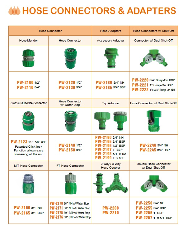 Hose Connectors & Adapters